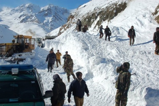 Afghan National Security Forces take charge of evacuation efforts, Feb. 10 after an avalanche hit Salang district in Parwan Province, Afghanistan, Feb. 9. (Courtesy photo from Afghan National Army) ""