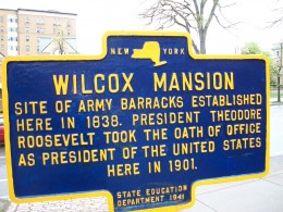 Plaque at the Wilcox Mansion, Buffalo, New York