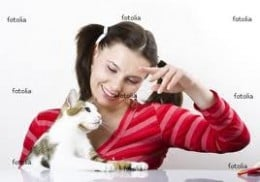 TOUGH LOVE!  Spend more time PLAYING and INTERACTING with your cat, as opposed to plying him with people food.