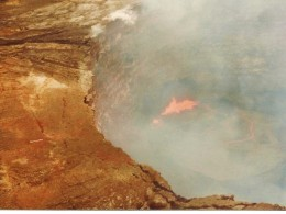 Fire in the pit of the volcano
