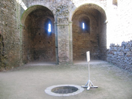 A well inside the keep.