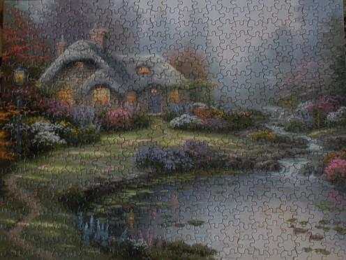 Thomas Kinkade jigsaw puzzle