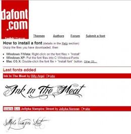 DaFont website image