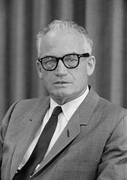 "U.S. Senator Barry Goldwater: ""I would remind you that extremism in the defense of liberty is no vice. And let me remind you also that moderation in the pursuit of justice is no virtue."" From his acceptance speech at the 1964 Republican Convention."