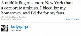 one of Lady Gaga's post on Twitter