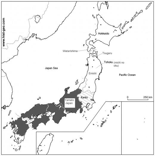 The territory of Yamato, Kofun period.