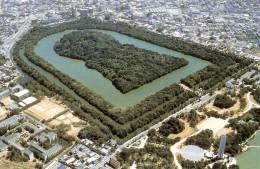 "Kofun tomb resembling a ""keyhole""."