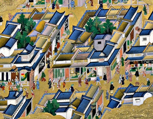 The ancient capital of Edo.