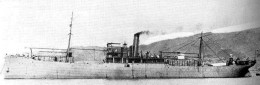 Japanese seaplane carrier Wakamiya (1914).