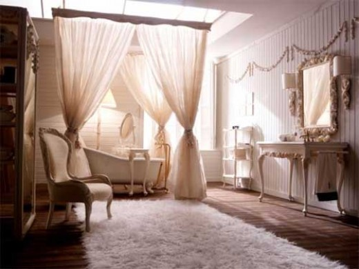 lavish traditional bathroom suite design