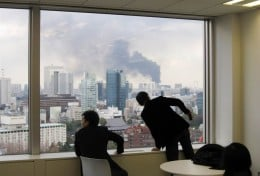 Tokyo after earthquake on March 11, 2011.