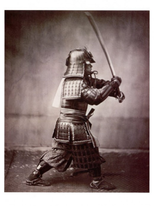 Samurai with full armor.