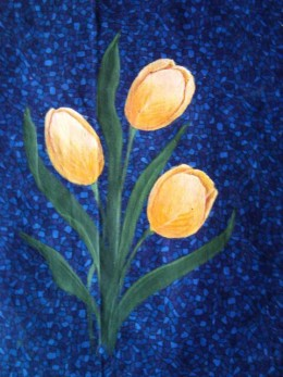 Hand painted cotton panel - available for sale via MYO Quilters Keepsake