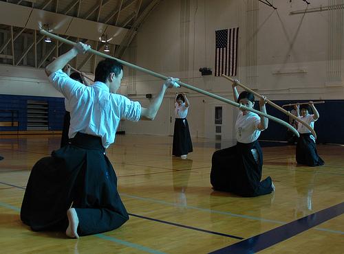 Adepts of Naginata-jutsu.