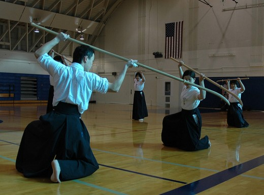 Adepts of Naginata-jutsu.