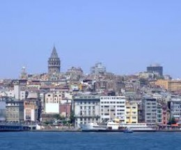 A  A view of the Galata Tower from the Bosphorus