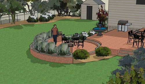 Rendering work from landscape design software