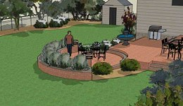 Rendering work from landscape design software