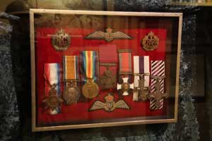 A few of the medals on display at the VAFM