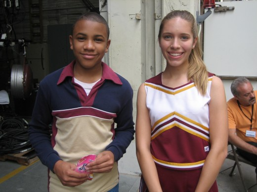"A child actor on the set of, ""Everybody Hates Chris"" with Tequan Richmond."