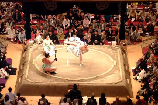 This is a Dohyo = Sumo ring.