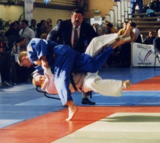 Judo is a martial art that makes use of throws, strangles and joint locks.