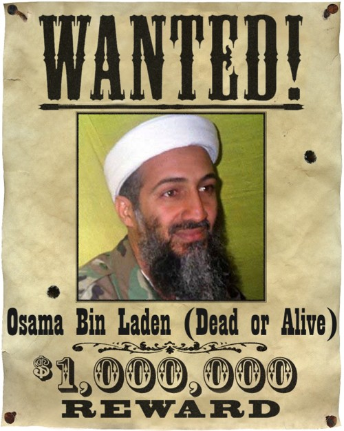 Osama Bin Laden Wanted Dead or Alive Poster Bin Laden's role in the September 11 2001 attacks on the United States led to a hunt for him that would last nearly 10 years.
