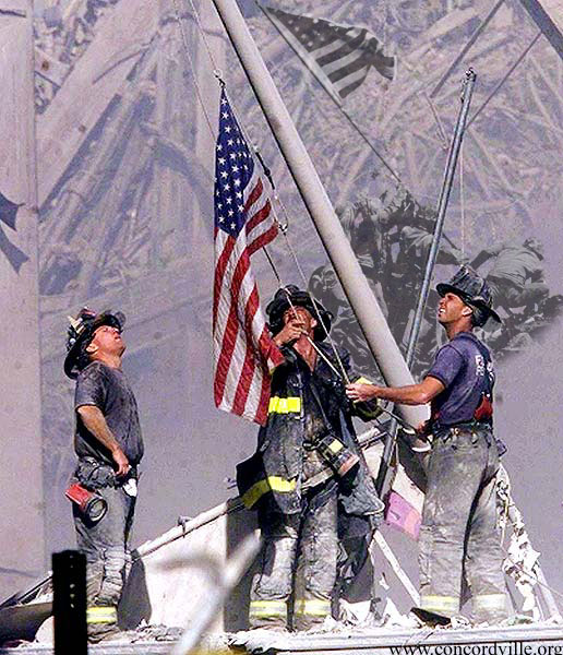 Three Brave Heroes Raise The Flag At Ground Zero In This Now Iconic September 11 Photo