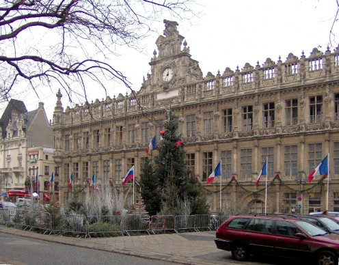 City Hall frontage, Valenciennes, France