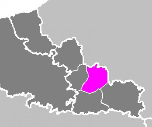 Map location of Valenciennes 'arrondissement'