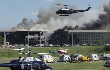 The Pentagon, Moments After the September 11, 2001 Attack