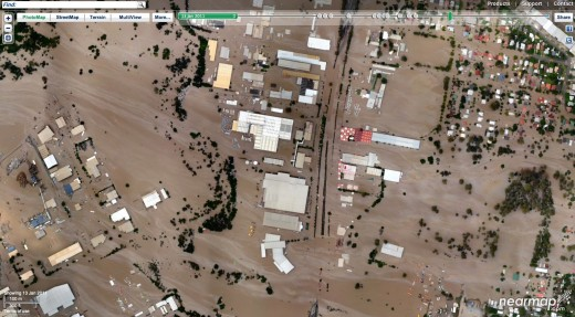 Flooding on Ipswich Rd, Rocklea from nearmap.com