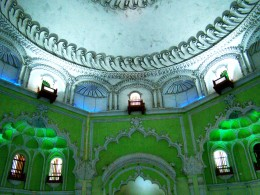 The dome of Barra Imam Bargah from inside