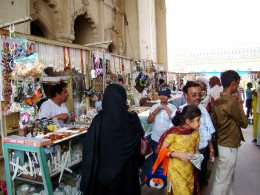 The curio shops at the gate of Barra Imam Bargah