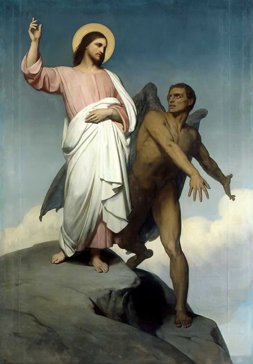 """The Temptation of Christ"" by Ary Scheffer"