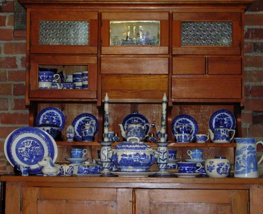 China cabinets hold holiday dish sets and everyday china.