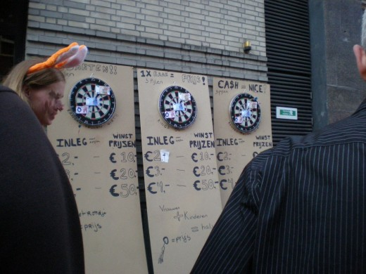 Dart game on the street