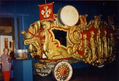 One of the Ringling Brother's circus carriages.