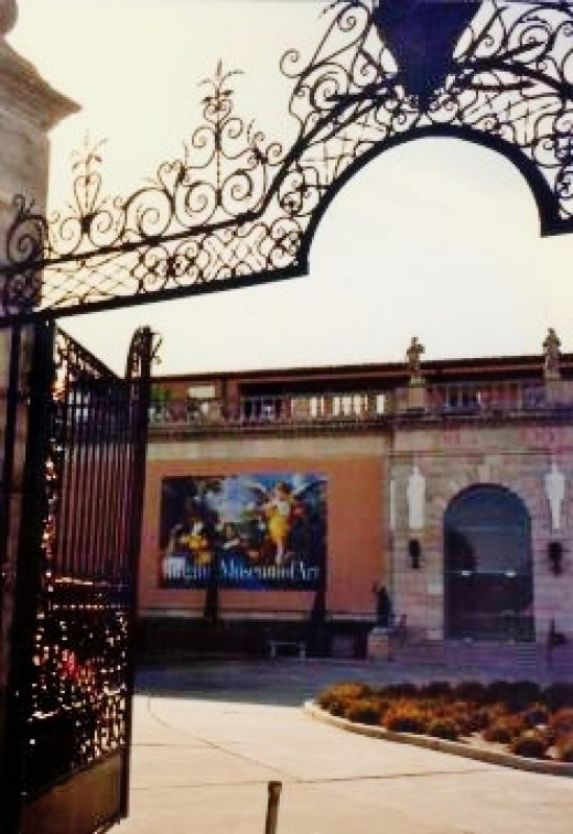 Entrance to the Ringling Museum