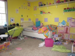 My daughter's messy room