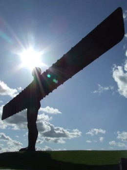 Angel With A Halo The Angel Of The North near to Lamesley Gateshead.