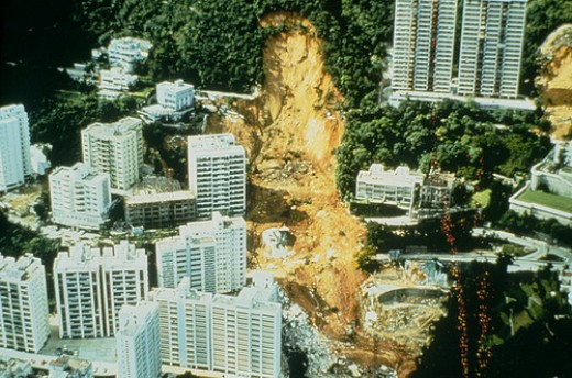 Landslide at Kotewall Road 18 nJune 1972