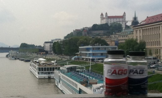 PAGG overlooking the Danube in Slovakia...