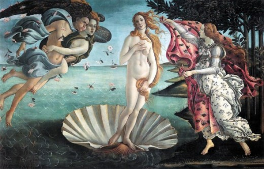 "The beauty of the breasts is often refelcted in fine art such as in ""Birth of Venus"" By Botticelli"