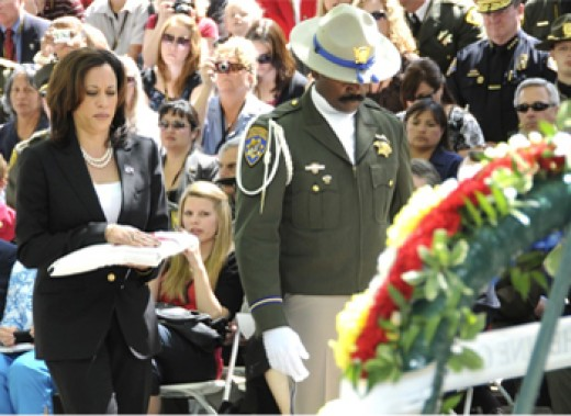 Attorney gen. of Ca. Kamala D. Harris at Peace Officer Memorial Ceremony