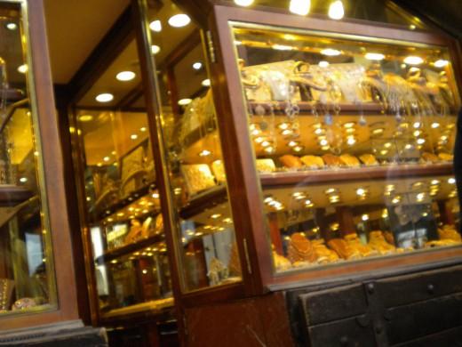 Jewelry shops in Ponte Vecchio
