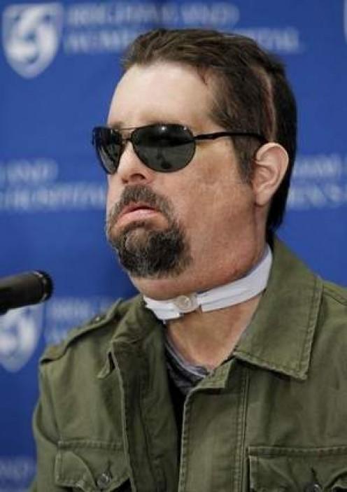 Dallas Wiens at a press conference.