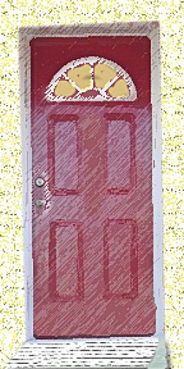 A red door adds punch to your curb appeal