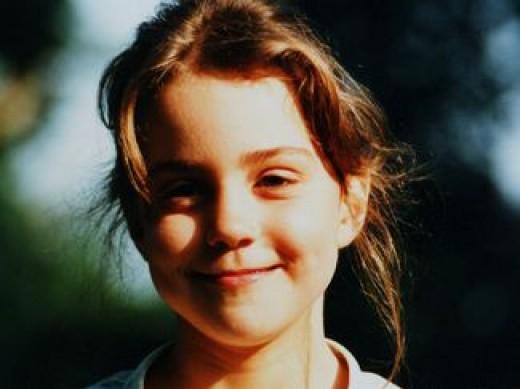 Kate Middleton when school girl