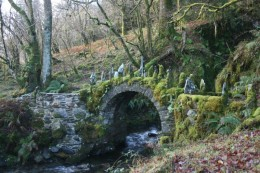 "What is called a ""faery bridge"" in the UK. You can almost see the Sidhe riding their horses and dancing across it!"